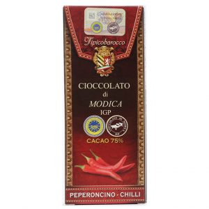 Modica Schokolade 75% mit Chili