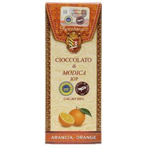 Modica Schokolade mit Orange