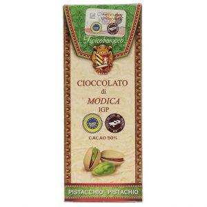 Modica Schokolade mit Pistazien